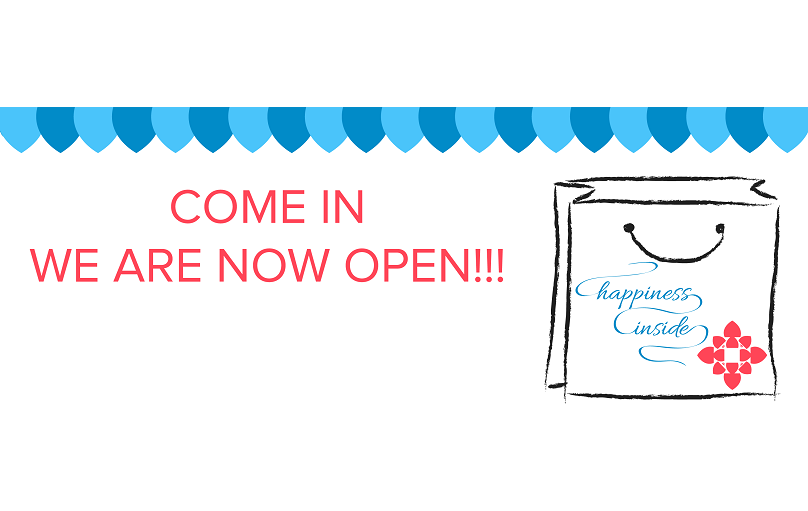 We are now open.