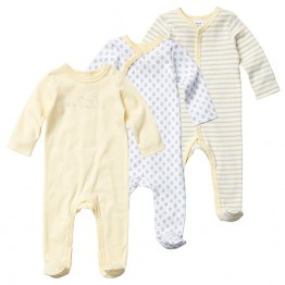 3 Pack Printed Coveralls - Squirrel