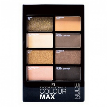 FACE OF AUSTRALIA Colour Max Eyeshadow Palette Nude 8 g
