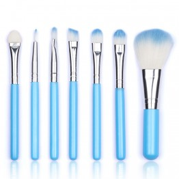 Sweet Sky Blue Cosmetic Brush Set 7 pcs/set
