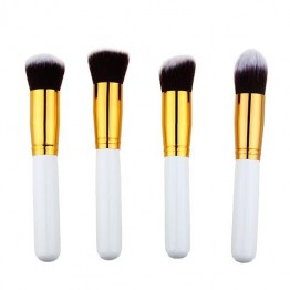 High Quality 4 pcs/lot Synthetic Makeup Brush Kit - White