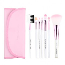 Professional 7pcs Makeup Brush Tools  With Case - Pink