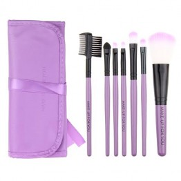 7 pcs Makeup Brushes Set - Purple Case