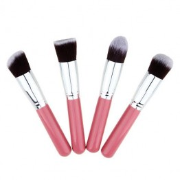 High Quality 4 pcs/lot Synthetic Makeup Brush Kit - Pink