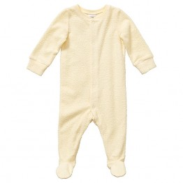 Baby Stretch Terry Coverall - Yellow