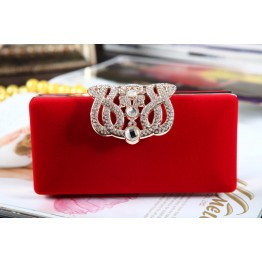 Hard Shell Party Clutch - RED