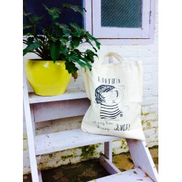 Doodle-Print Tote Bag - Photographer